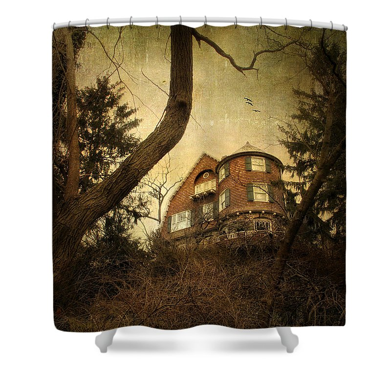 Home Shower Curtain featuring the photograph Hideaway by Jessica Jenney