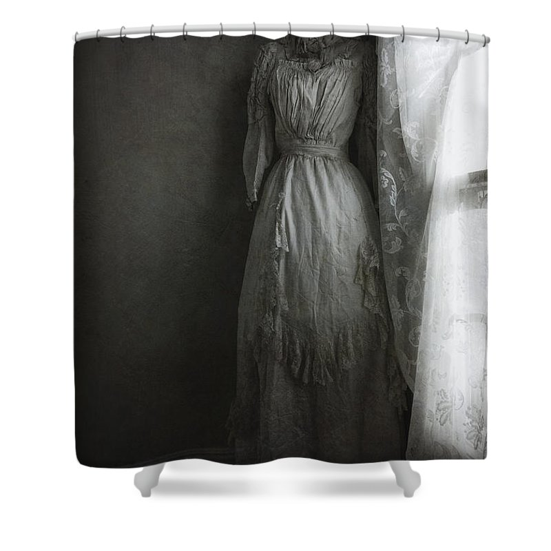 Antique Shower Curtain featuring the photograph Hiding In The Corner by Margie Hurwich