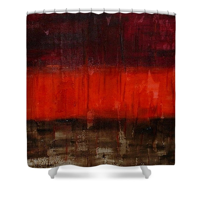 Abstract Shower Curtain featuring the painting High Energy by Silvana Abel