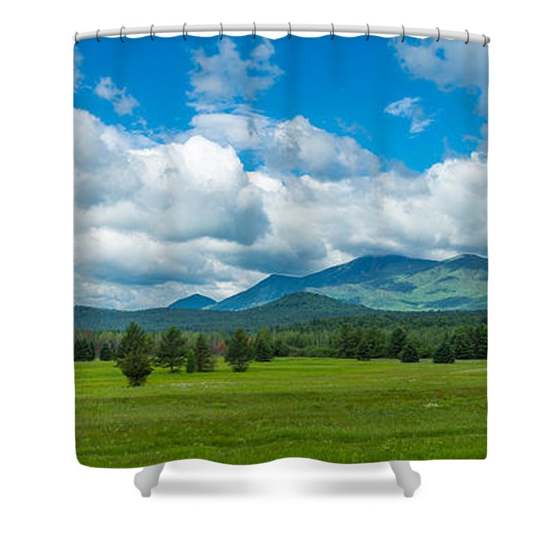 Photography Shower Curtain featuring the photograph High Peaks Area Of The Adirondack by Panoramic Images