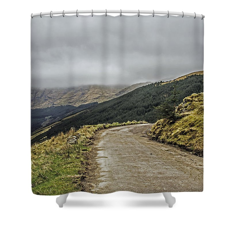 Travel Shower Curtain featuring the photograph High Road by Elvis Vaughn