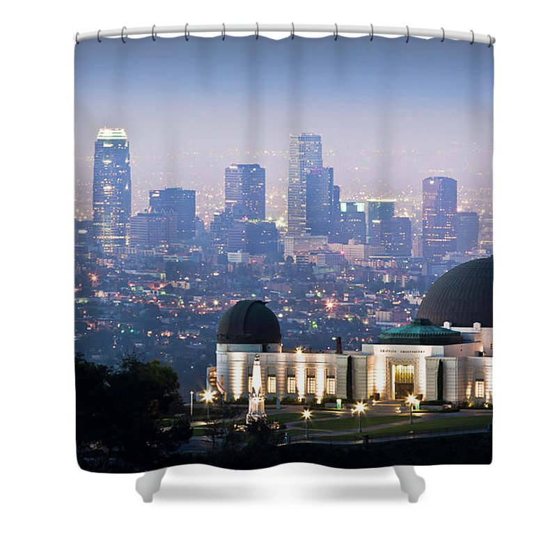 Downtown District Shower Curtain featuring the photograph Higher Ground by Andrew Kennelly