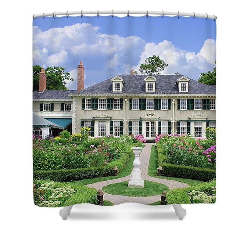 Hildene Shower Curtain featuring the photograph Hildene 5679 by Guy Whiteley