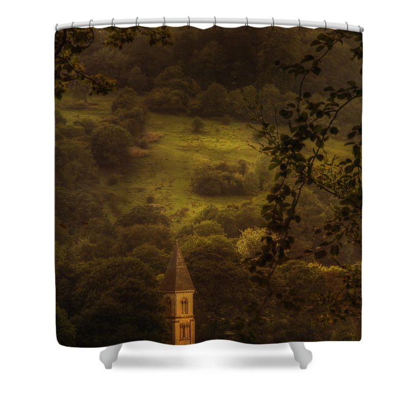 Church Shower Curtain featuring the photograph Hillside Sanctuary by Margie Hurwich