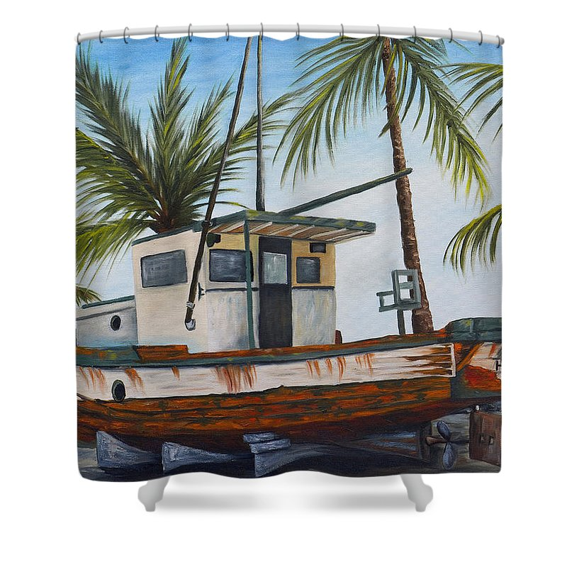 Hawaii Shower Curtain featuring the painting Hilo Kale by Darice Machel McGuire