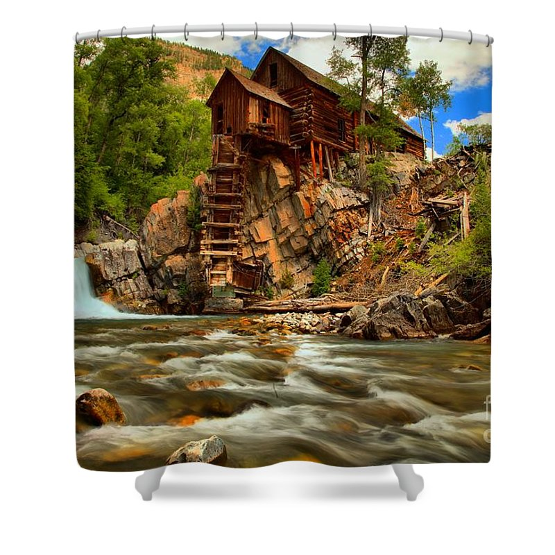 Crystal Colorado Shower Curtain Featuring The Photograph Historic Landscape By Adam Jewell