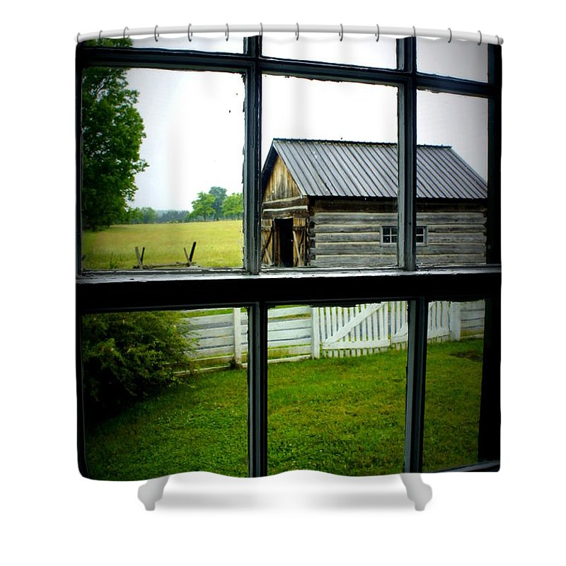 Window Shower Curtain featuring the photograph Historic New Market by Laurie Perry