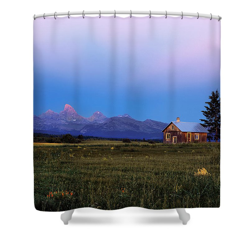 Ranch Shower Curtain featuring the photograph Hollingshead Ranch by Leland D Howard