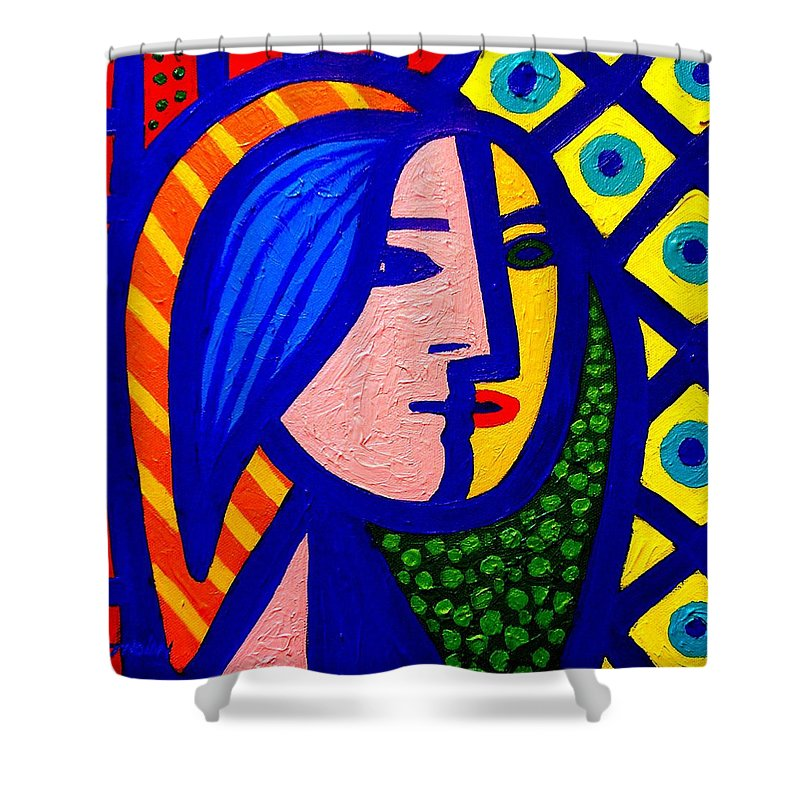 Homage To Pablo Picasso Shower Curtain For Sale By John Nolan