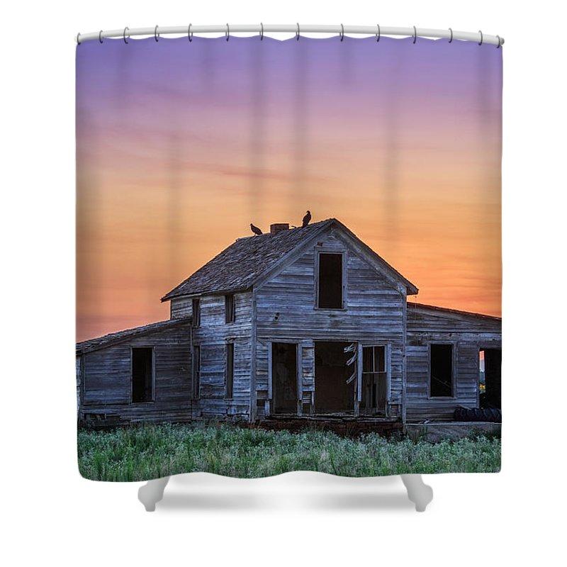 Kansas Photography Shower Curtain featuring the photograph Home Sweet Home by Jill Van Doren Rolo