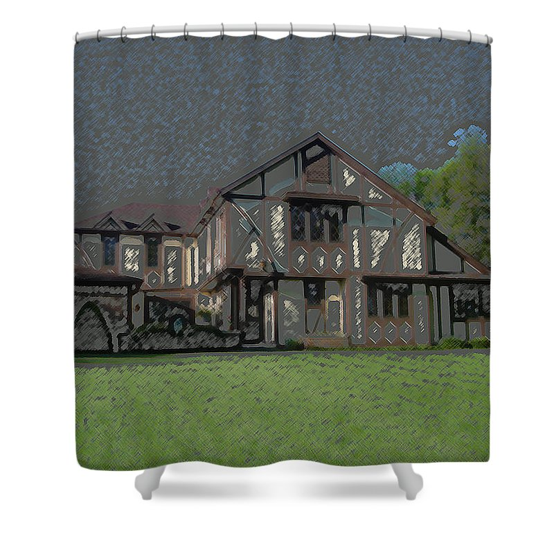 Home Shower Curtain featuring the digital art Home Sweet Home by Lovina Wright