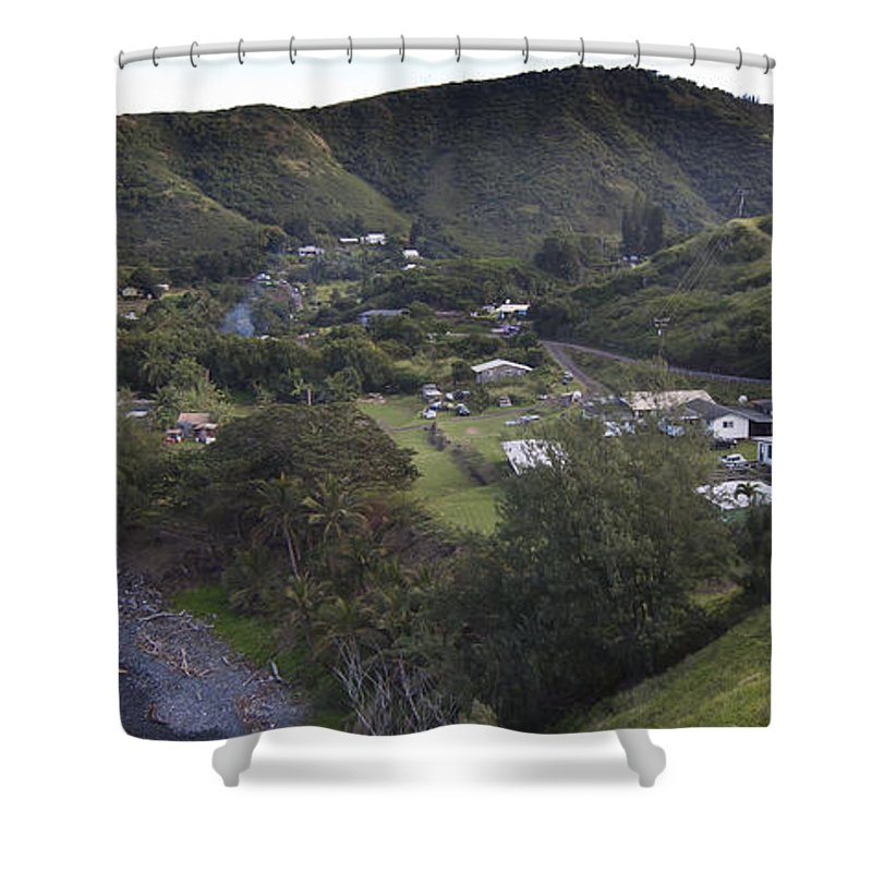 Cove Shower Curtain featuring the photograph Honokohau Bay-signed-#8533 by J L Woody Wooden