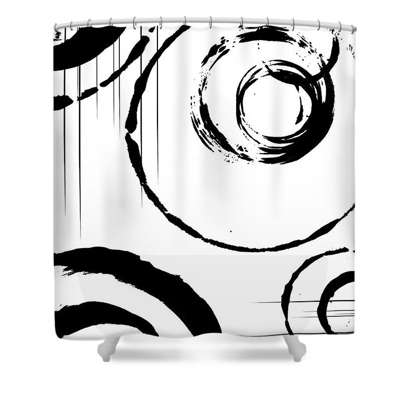 Abstract Shower Curtain featuring the digital art Honor by Melissa Smith