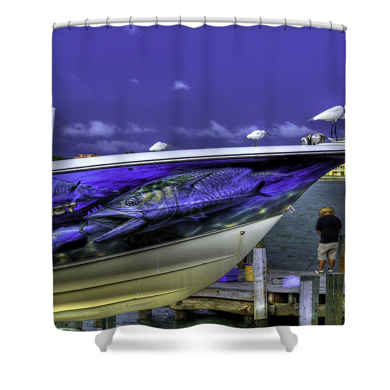 Birds Shower Curtain featuring the photograph Hood Ornaments by Jay Droggitis