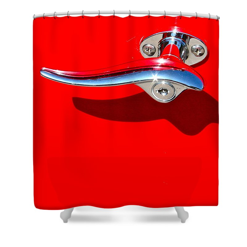 Photograph Shower Curtain featuring the photograph Hop In by Gwyn Newcombe