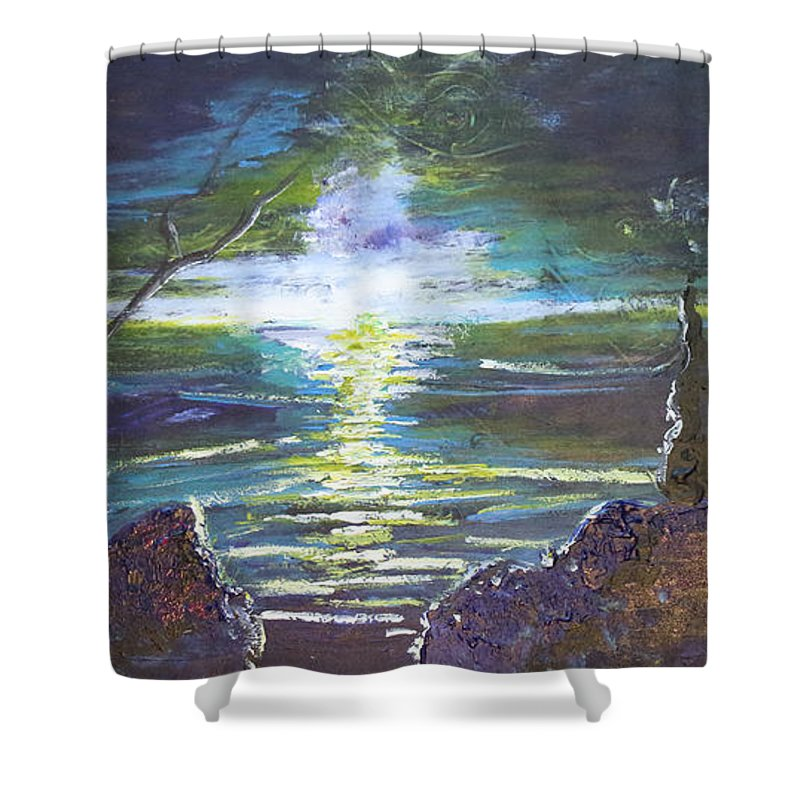 Impressionism Shower Curtain featuring the painting Hope In The Gloom by Stefan Duncan