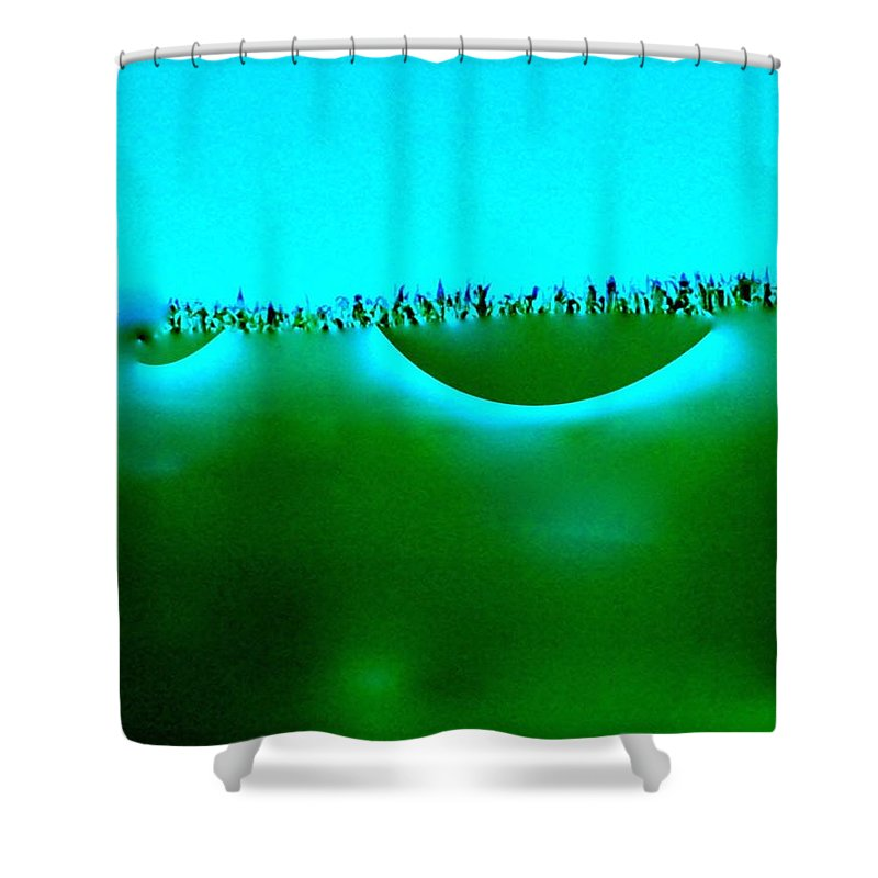 Abstract Of The Sky. Shower Curtain featuring the painting Horizon Of Hope. by Lisa S Patti