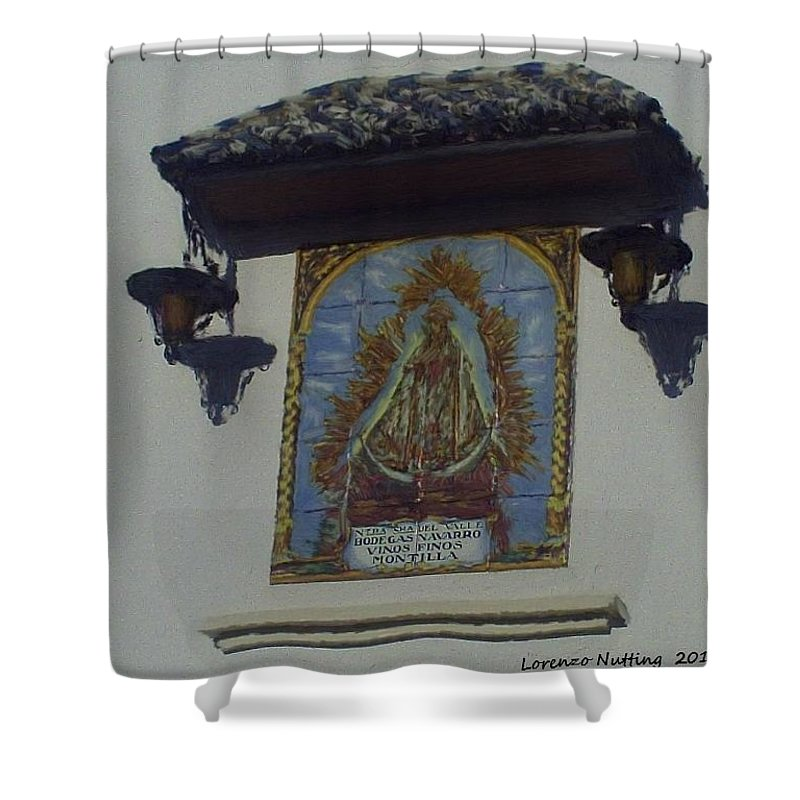Tile Of Mary Shower Curtain featuring the painting Hornacino En Ecija by Bruce Nutting