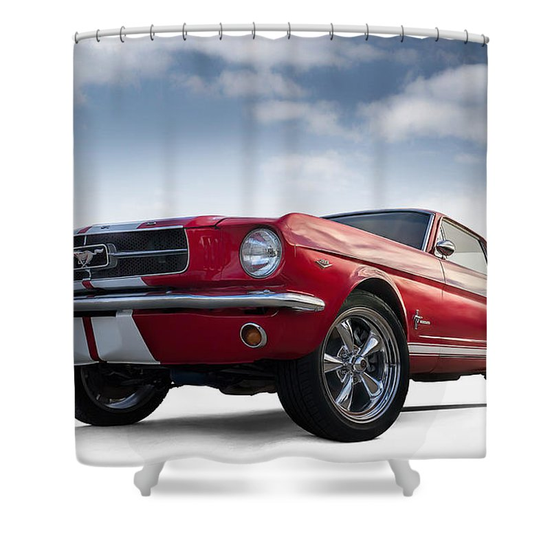 Mustang Shower Curtain featuring the digital art Just Horsin' Around by Douglas Pittman