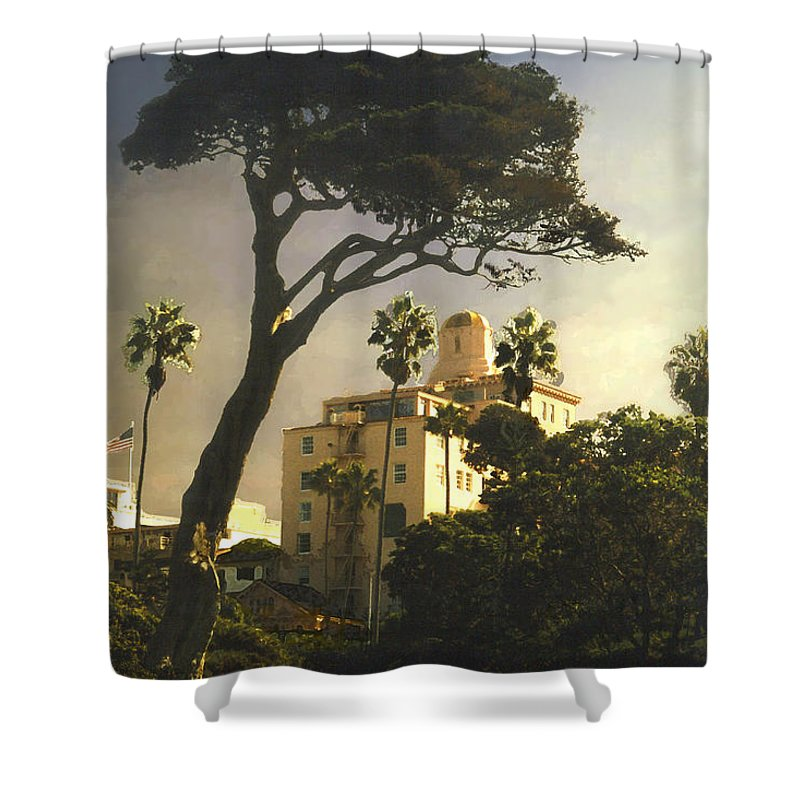 Landscape Shower Curtain featuring the photograph Hotel California- La Jolla by Steve Karol