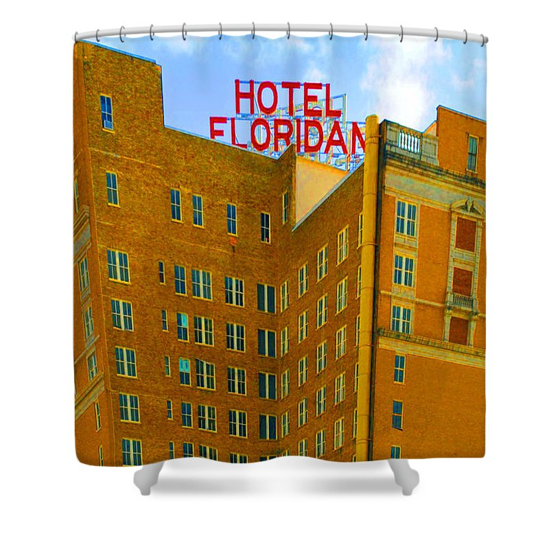 Hotel Shower Curtain featuring the photograph Hotel Floridan by Jost Houk