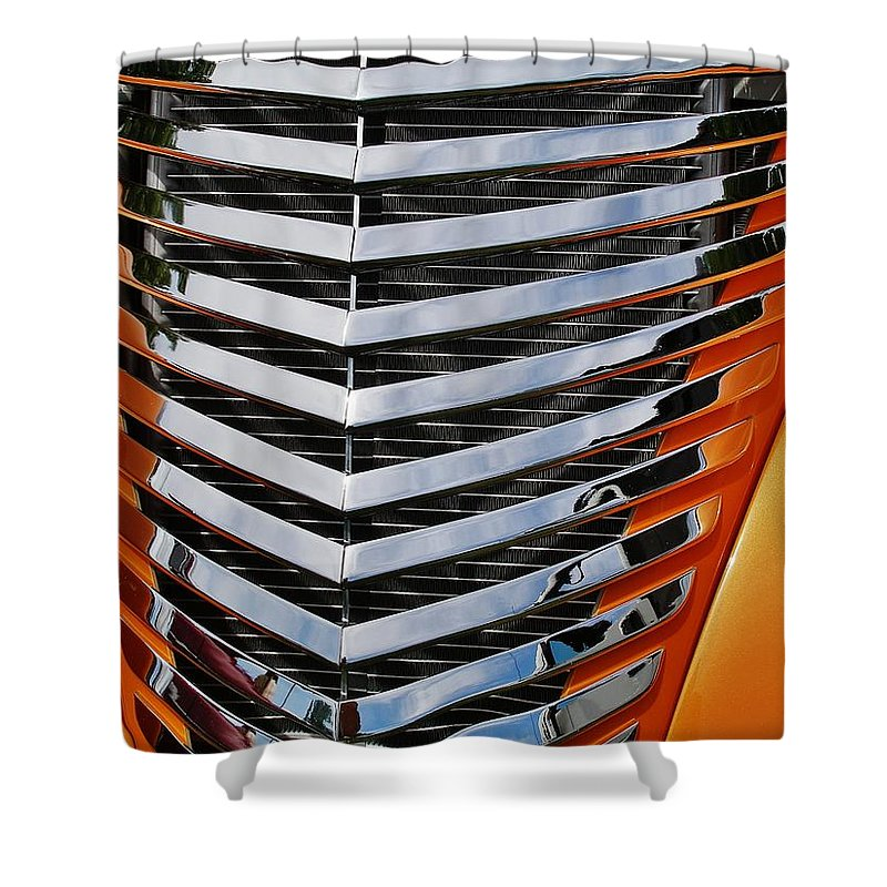 Shower Curtain featuring the photograph Hotrod Grill by David Pantuso