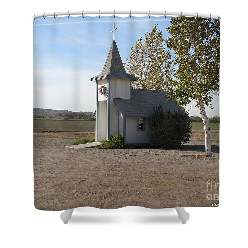 Patzer Shower Curtain featuring the photograph House Of The Lord by Greg Patzer