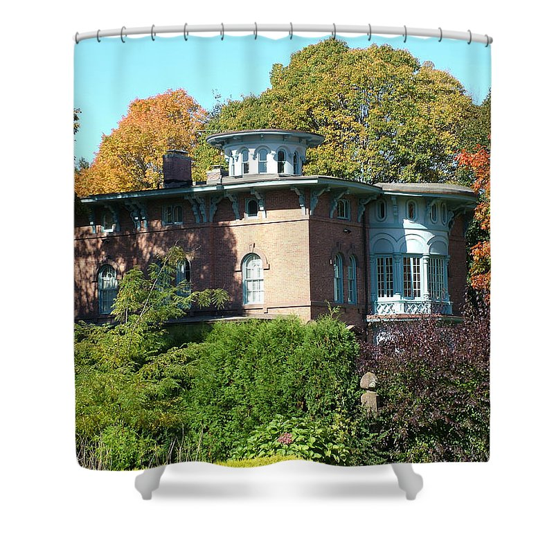 Autumn Shower Curtain featuring the photograph House Surrounded By Autumn by Geoffrey McLean