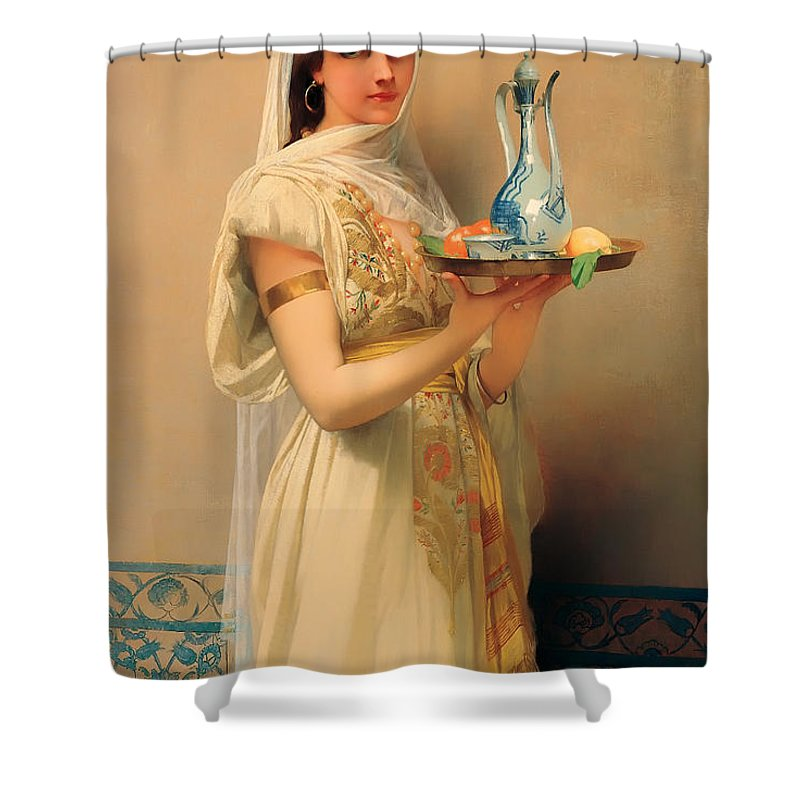 Painting Shower Curtain featuring the painting Housemaid by Mountain Dreams