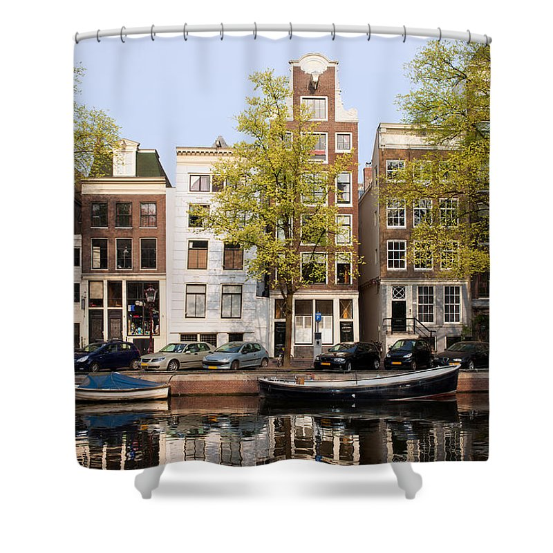 Amsterdam Shower Curtain featuring the photograph Houses In Amsterdam by Artur Bogacki
