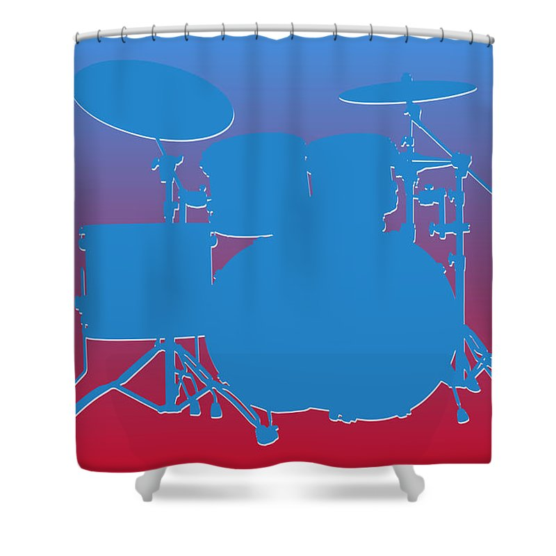 Oilers Shower Curtain featuring the photograph Houston Oilers Drum Set by Joe Hamilton