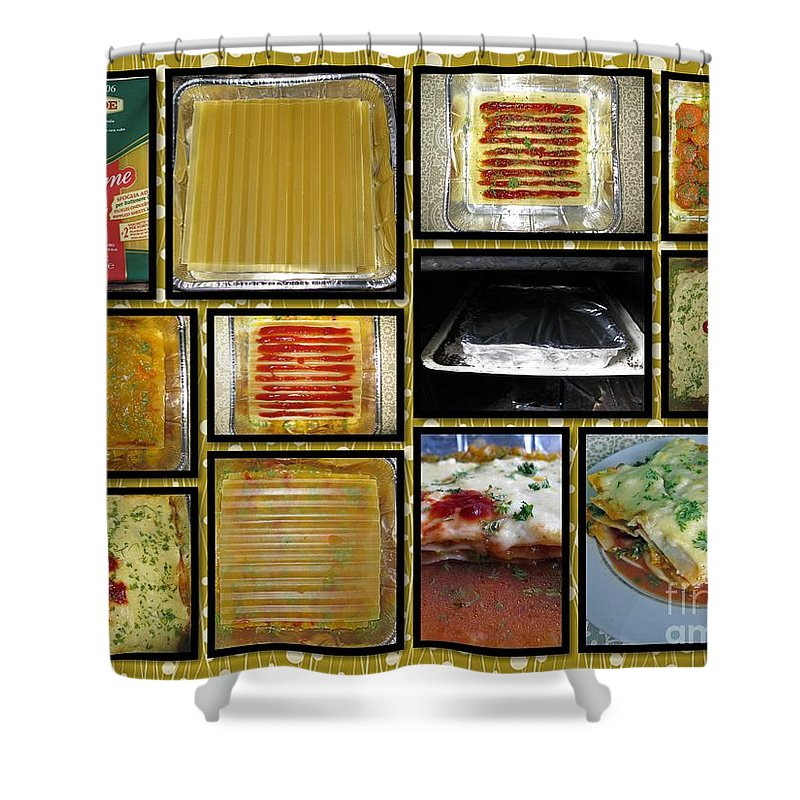 Food Shower Curtain featuring the photograph How To Make Your Own Vegan Lasagne by Ausra Huntington nee Paulauskaite