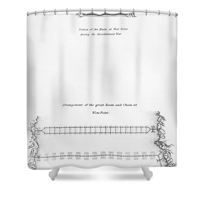 1778 Shower Curtain featuring the photograph Hudson River: Chain, C1778 by Granger