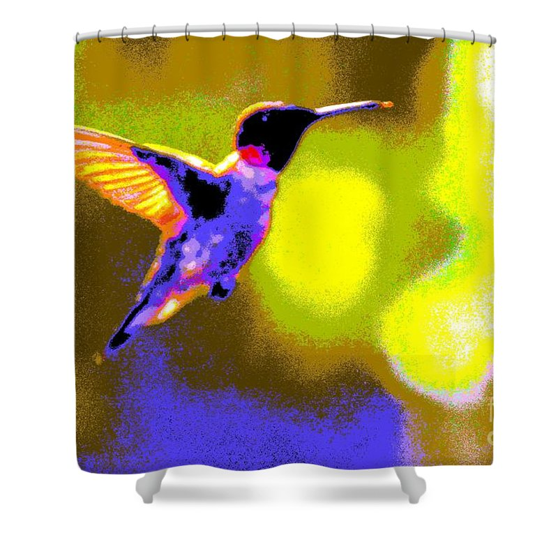 Kates Shower Curtain featuring the photograph Hummingbird by Randy J Heath