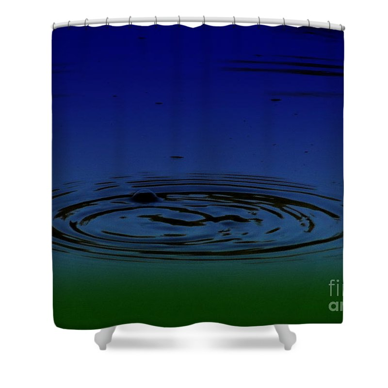 Hydrogen Sulfide Shower Curtain featuring the photograph Hydrogen Sulfide by Mim White