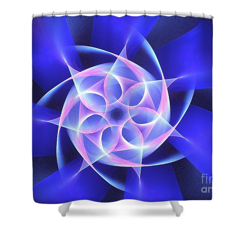 Apophysis Shower Curtain featuring the digital art Hydros by Kim Sy Ok