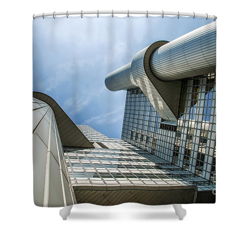Hypo Vereins Bank Shower Curtain featuring the photograph Hypovereinsbank 2 by Hannes Cmarits