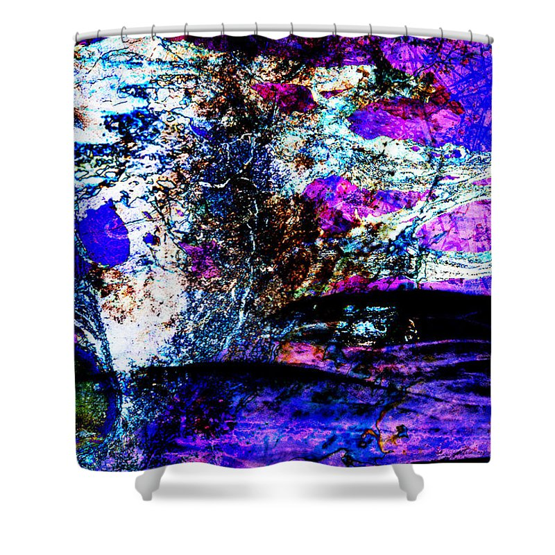 Desert Shower Curtain featuring the digital art I Am... The Heros Journey We Each Take To Discover Our Own Purpose And Reason For Being- Autumn 6 by Arthur BRADford Klemmer