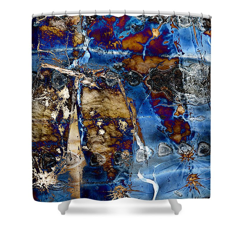 Desert Shower Curtain featuring the digital art I Am.. The Long Drought And The Hard Rain To Follow That Quenches Our Parched Souls Of...- Winter 2 by Arthur BRADford Klemmer