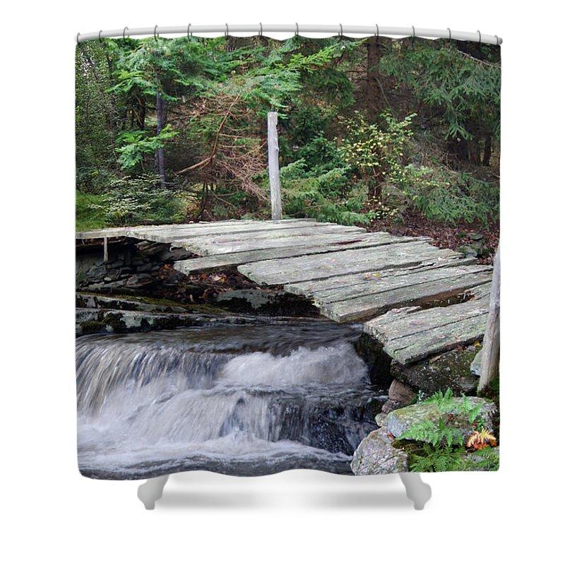 Bridge Shower Curtain featuring the photograph I Dare You Bridge by Francesa Miller
