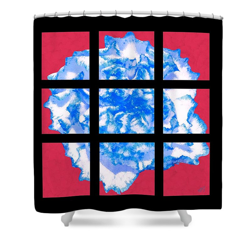 Bruce Shower Curtain featuring the painting I Love Carnations Mosaic by Bruce Nutting