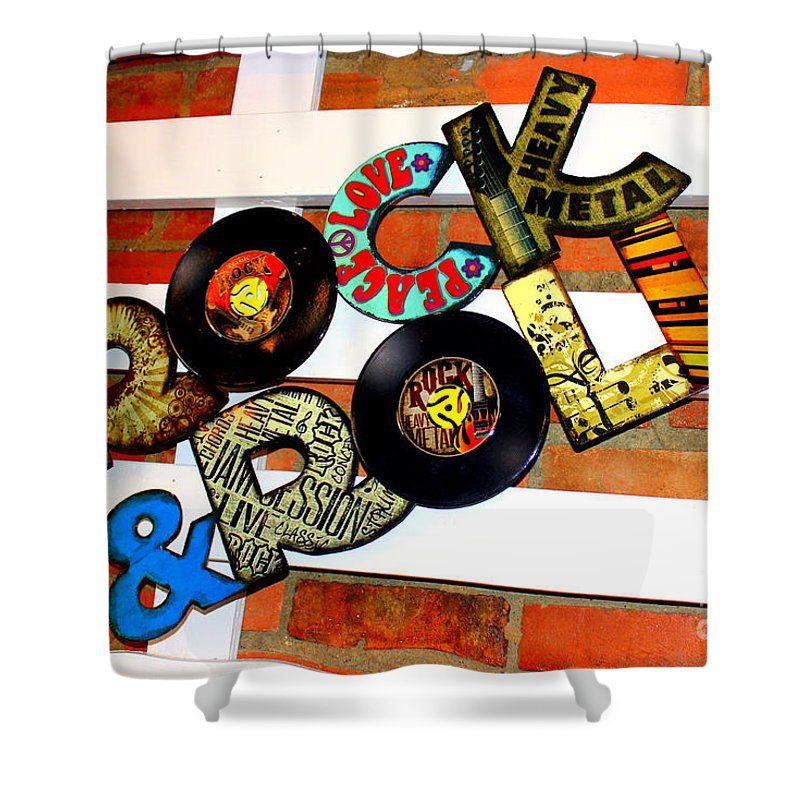 I Love Rock N Roll Song Shower Curtain Featuring The Photograph