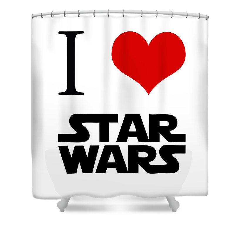 I Love Star Wars Shower Curtain For Sale By Gina Dsgn