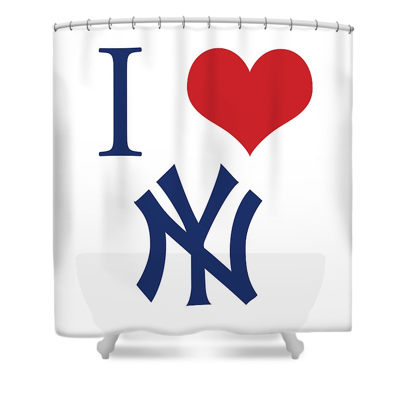 I Love Yankees Shower Curtain For Sale By Gina Dsgn