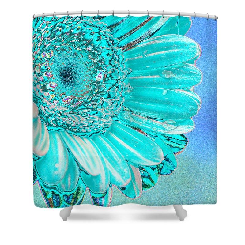 Blue Shower Curtain featuring the digital art Ice Blue by Carol Lynch