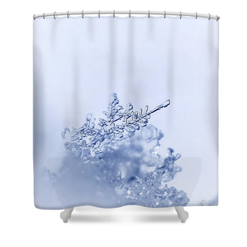 Winter Cold Shower Curtain featuring the photograph Ice Crystals by Heike Hultsch