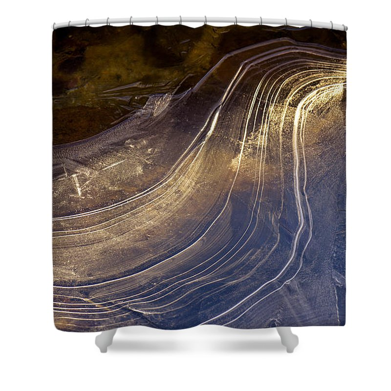 Ice Shower Curtain featuring the photograph Ice Curve by Joy McAdams