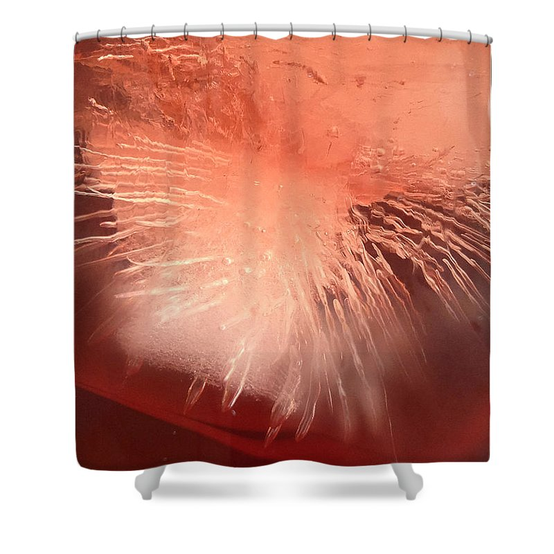 Ice Shower Curtain featuring the photograph Iced Cherry Juice by Tim Nyberg