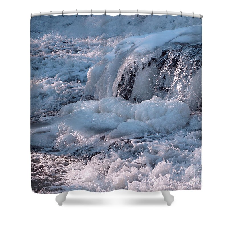 Winter Shower Curtain featuring the photograph Iced Water by Ann Horn