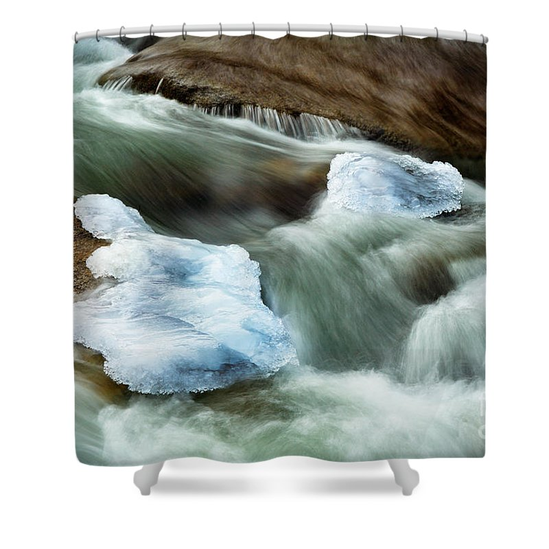 Alpine Lakes Wilderness Shower Curtain featuring the photograph Icicle Creek by Inge Johnsson